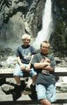 The boys at Yosemite falls. I'd later have to get on 'em for scrambling on the rocks!