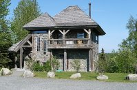 The multi-unit building at Tower Rock Lodge.