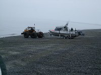 Launching the boat on the beach #1.