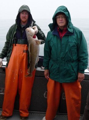 Dad and a disappointing cod.