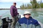 Mark tucked in for the upstream run.