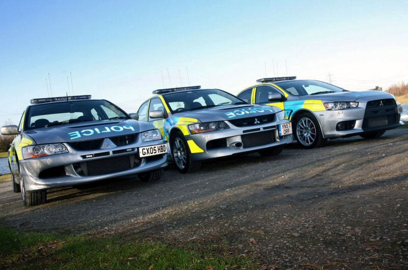 South Yorkshire Police's pack of Evos.