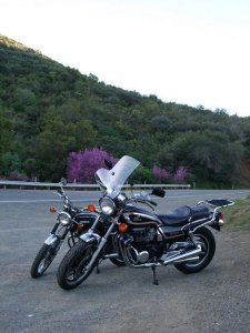 Bikes above Lake Berryessa
