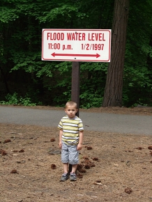 Alex showing the depth of the flooding, as did Chris years before...
