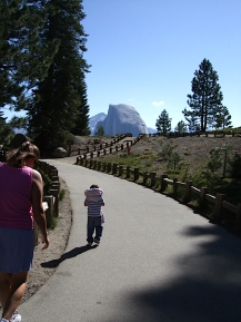 Hiking up to Glacier Point.