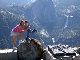 Posing on Glacier Point.
