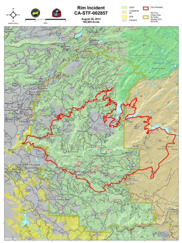 CalFire Rim Fire Incident Report