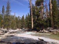 Further upstream.