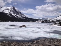 An iced Tioga Lake.