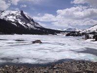 An iced Tioga Lake.