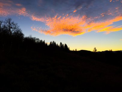 Sunrise from Emigrant Gap on Highway 108.