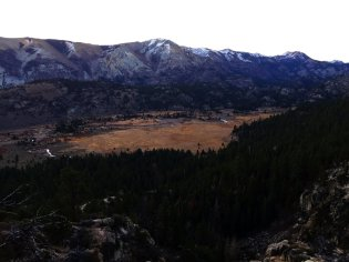 Over the West Walker River from the Leavitt Falls Vista Point.