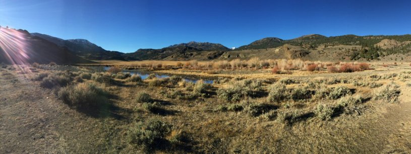 "My ""office"" for the morning. (West Walker River)"