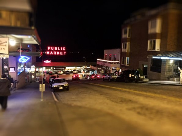 Pike Place Market on a quiet night.