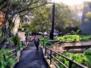 Karen on Saturn Street Steps