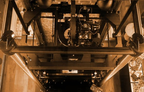 A Multiplane Camera, which that simultaneously shoots several levels of cells and backgrounds to give depth to Disney films.