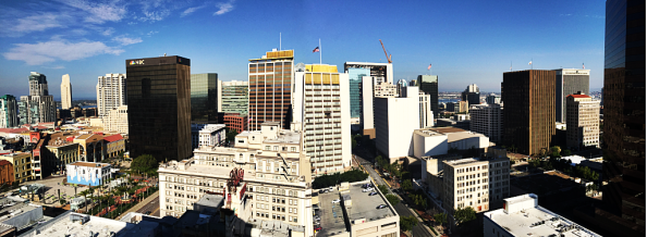 What would be the view from our room on the 18th floor of the Palomar.