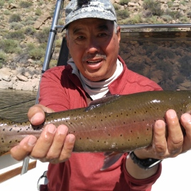 2017.08.26 Crowley Lake 09.Gerry Crooked Cutthroat (Biggest)